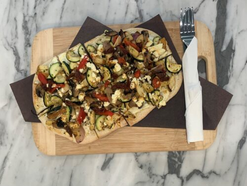 product image of roasted veg flatbread